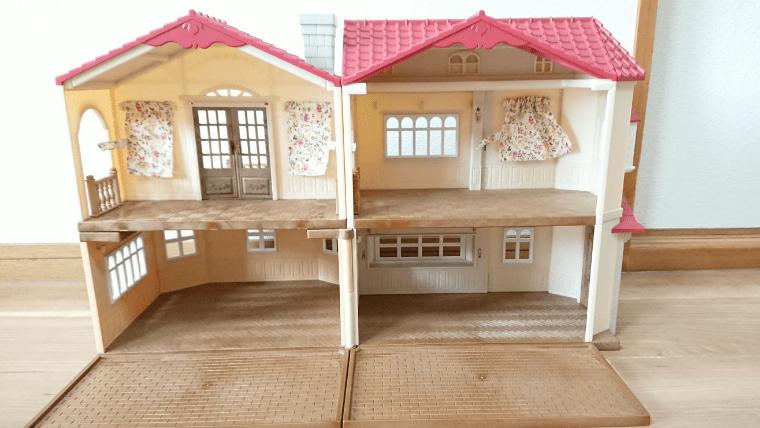 赤い屋根の大きなお家180度
