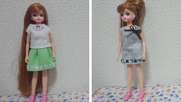 リカちゃん 服 手縫い 簡単